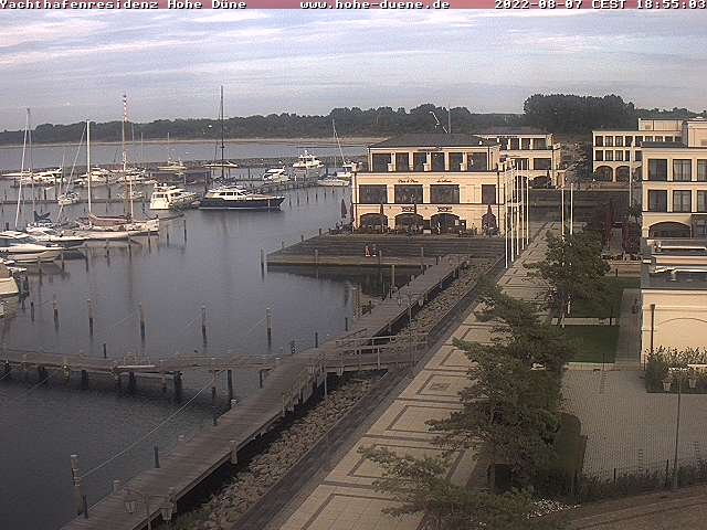 Rostock webcam - Yachthafenresidenz Hohe Duene Wellness Spa webcam, Mecklenburg-Vorpommern, Warnemuende