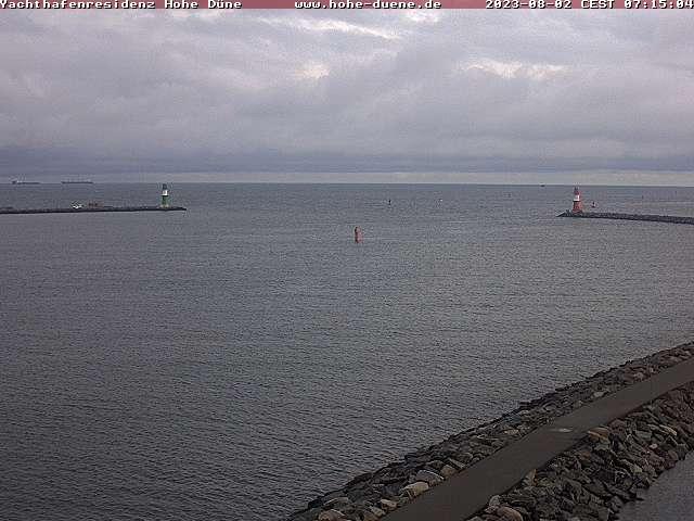 Rostock webcam - Yachthafenresidenz Hohe Duene Ostsee Promenade webcam, Mecklenburg-Vorpommern, Warnemuende